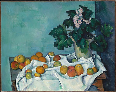 Paul Cézanne - Still Life with Apples and a Pot of Primroses,ca 1890