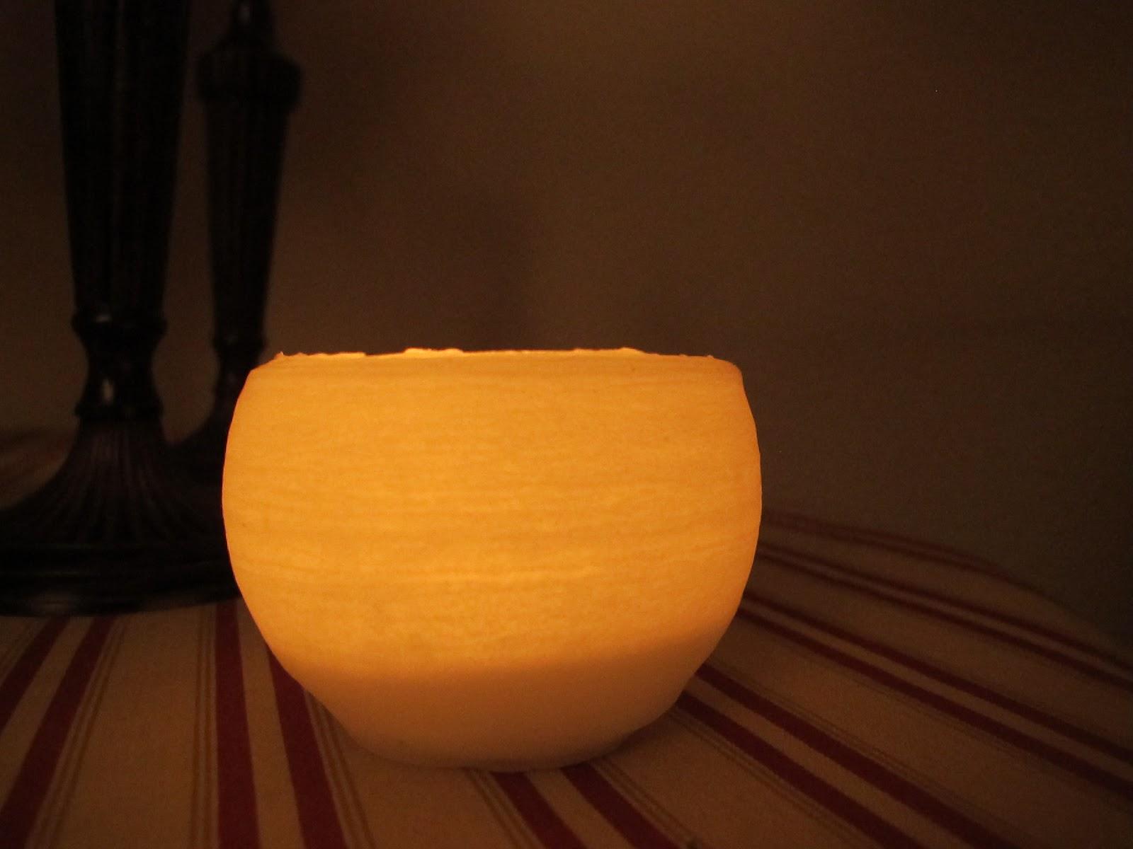 Brico de porta velas con parafina y DIY con Tea Candle Light