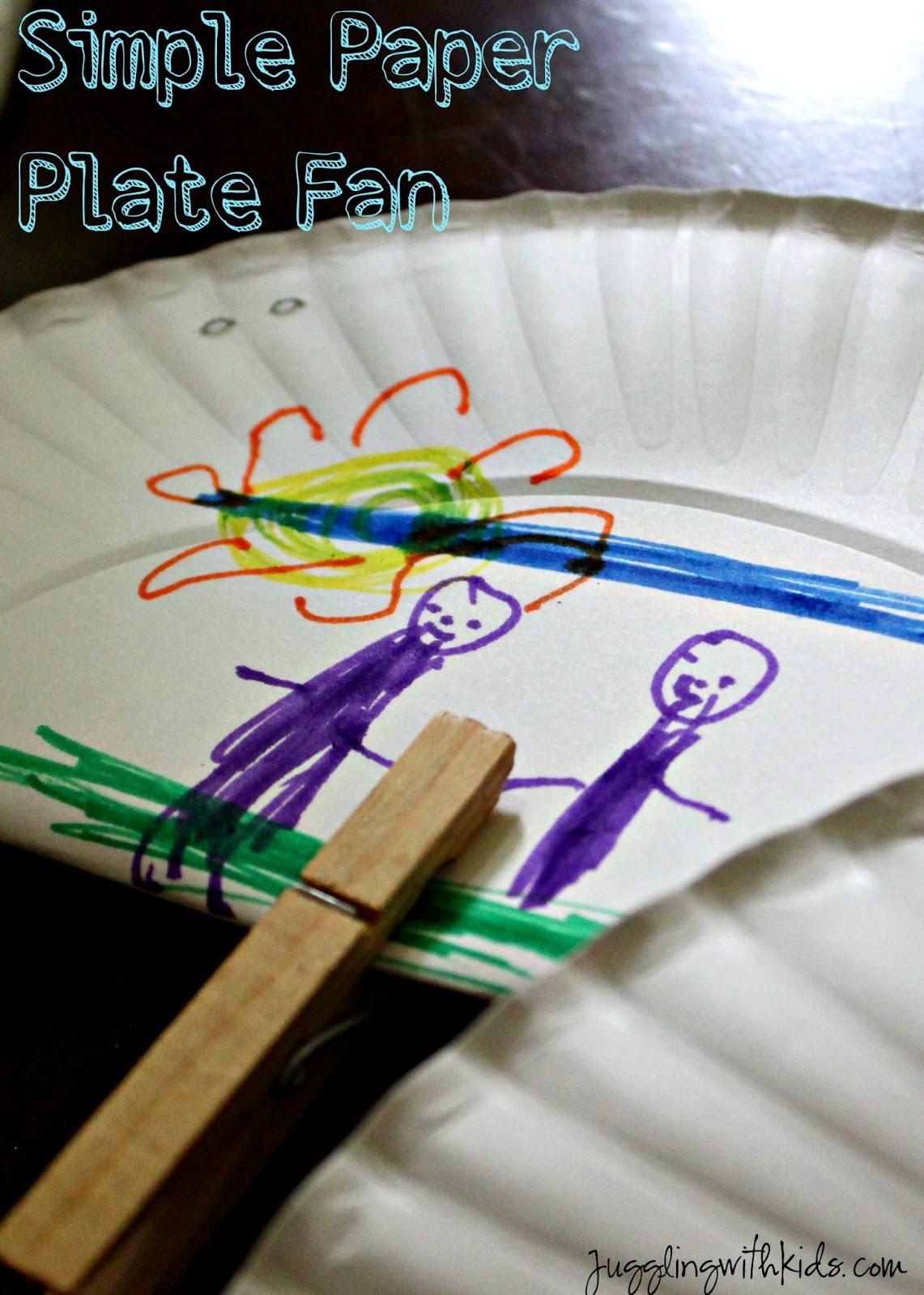 & Simple Paper Plate Fan \u2013 Juggling With Kids