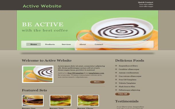 Coffee Brown Business Free CSS Website Template
