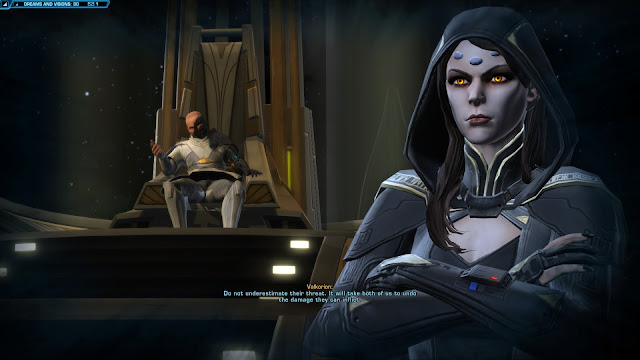 Star Wars The old republic Knights of the Fallen Empire, Chapter II dream throne room vaylin arcann