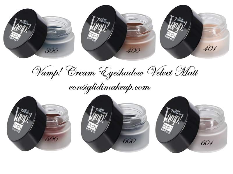Preview:Vamp Cream Eyeshadow MATT, Mascara Vamp MAtt,Lasting Color Matt - Pupa Milano