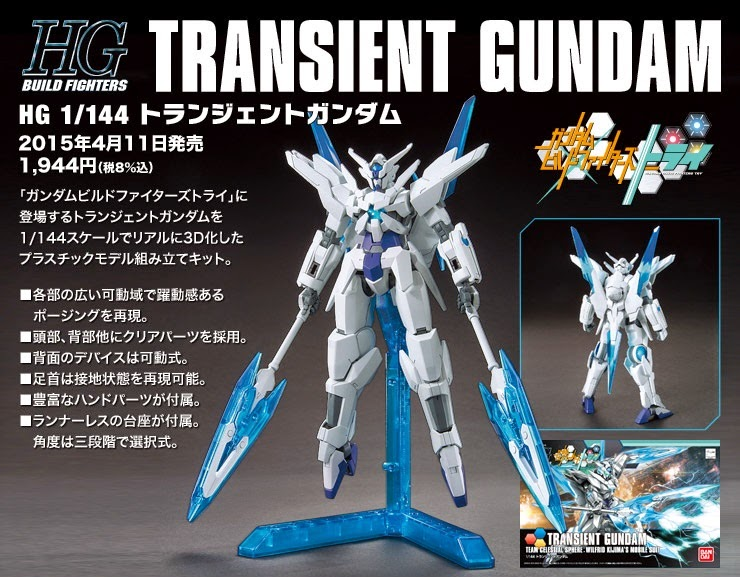 gundam build fighters try transient gundam