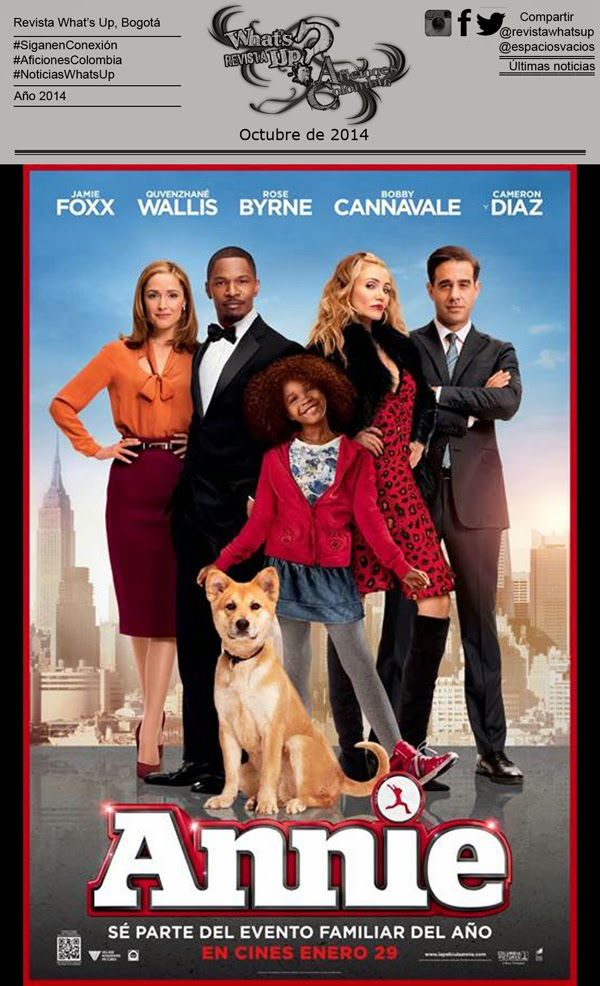 LANZAMIENTO-VIDEO-Never-Fully-Dressed-Without-A-Smile-PELICULA-ANNIE-Sony-Pictures-ESTRENO-CINES-ENERO-2015