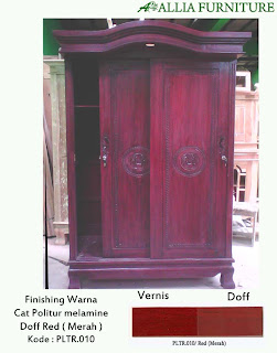 Contoh Furniture Politure Red ( Merah )