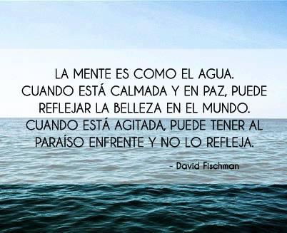 La mente es como el agua