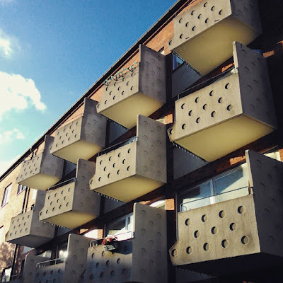 Concrete balconies, Malmö