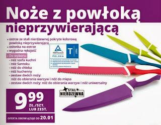 Noże z powłoką nieprzywierającą z Biedronki ulotka