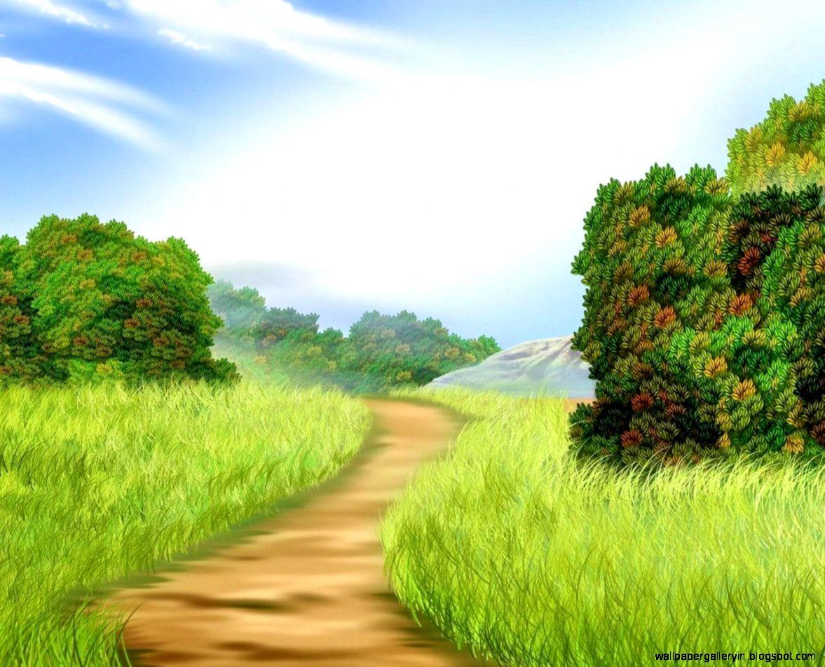 Girl road path walk field grass wallpaper kids wallpaper for Wallpaper walk