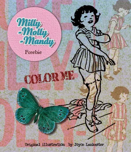 Vintage French Postcards and Spring butterflies & FREEBIE
