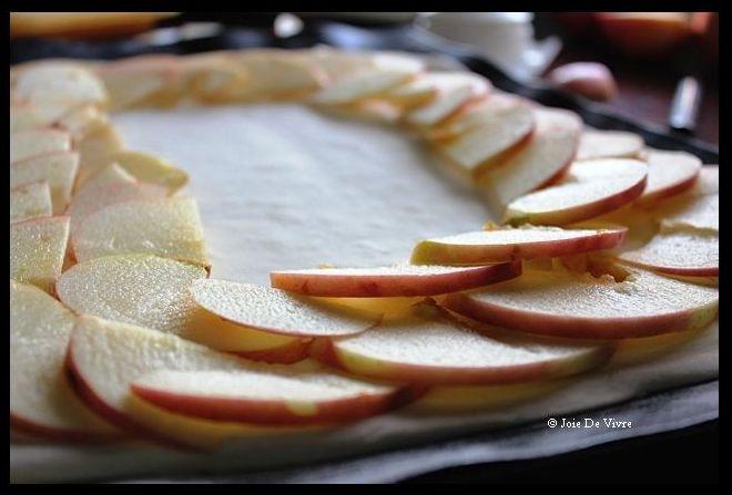 Apple Mosaic Tart with Salted Caramel