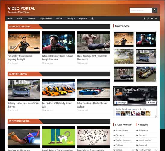 video portal free blogger template responsive blogger templates