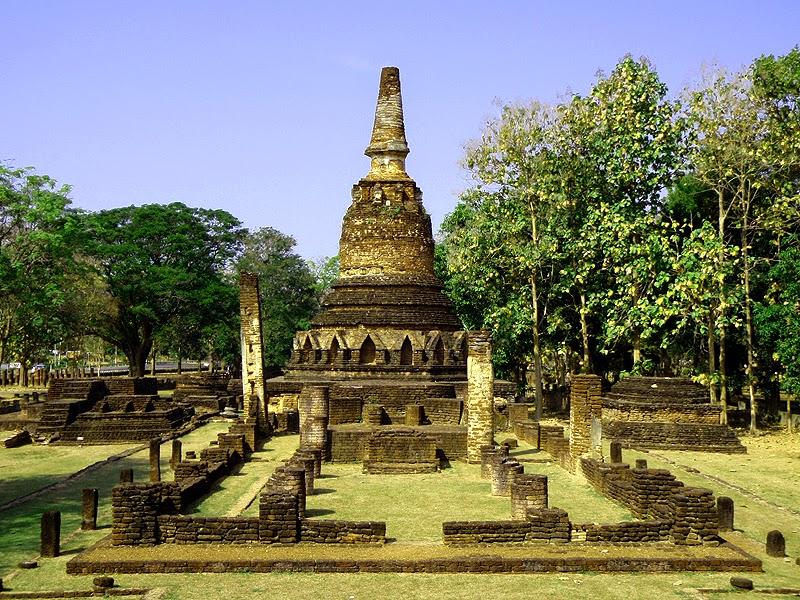 Parc historique de Kamphaeng Phet - Stupa