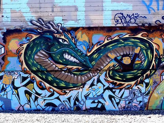 Dragon Graffiti Street Art