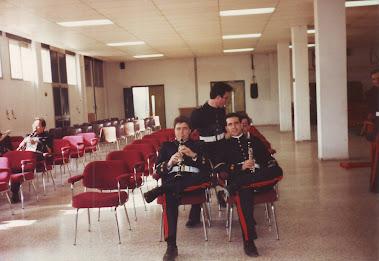 Con compañeros de la Unidad de Música de Infantería de Marina de Madrid.