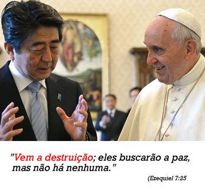 Terremotos e Tsunamis: Ministro conversa sobre paz com o Papa