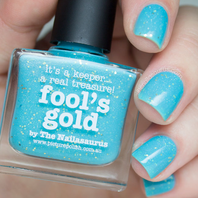 piCture pOlish Fool's Gold by The Nailasaurus Swatch