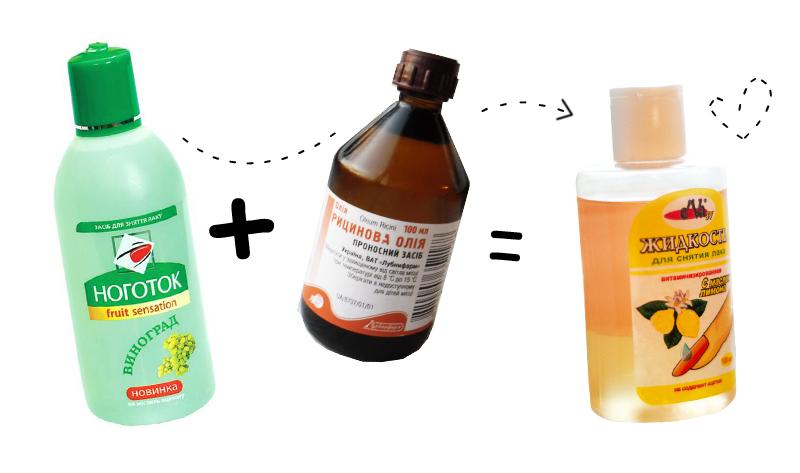 Как сделать жидкость для снятия лака своими руками