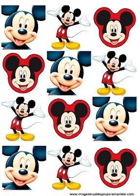 pegatinas para imprimir de mickey mouse