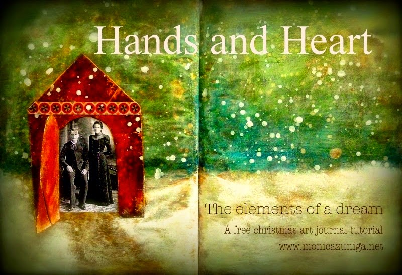 The elements of a dream/ Winter art journal tutorial recycling