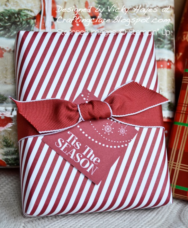 Present wrapped with Season of Style from Stampin' Up