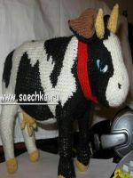 patron gratis vaca amigurumi de punto