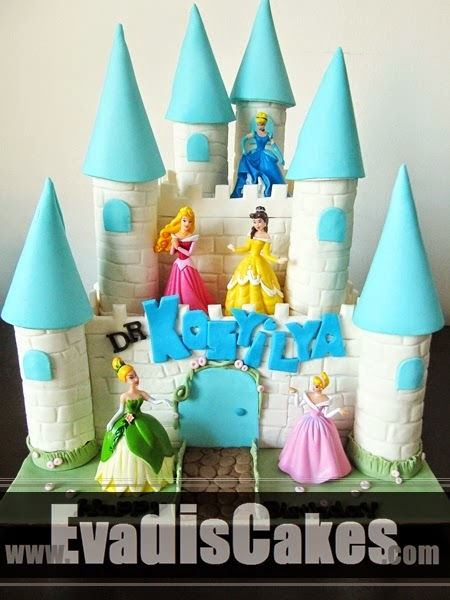 Front view picture of Penang castle cake
