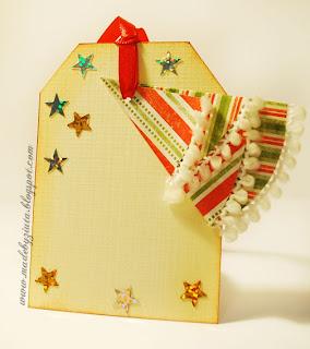 scrapbooking bileciki na prezenty zawieszki card making