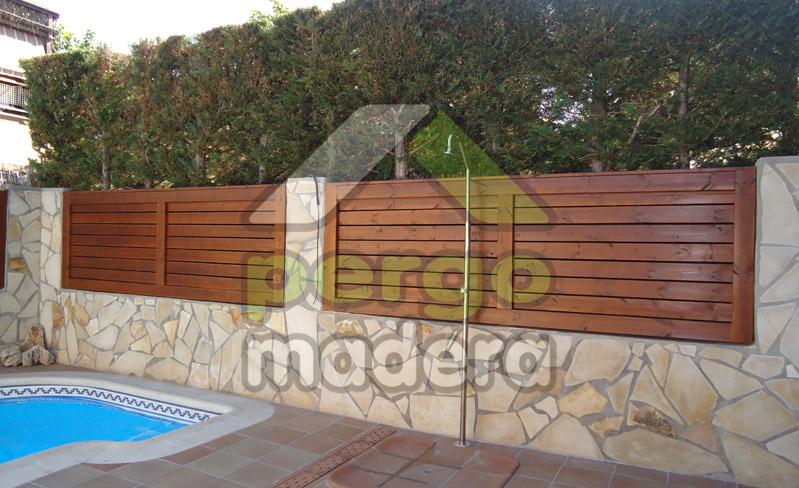 Pergomadera estructuras de madera celos a para su tico for Celosia terraza