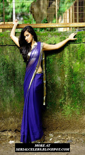 Asheeka in low hip saree