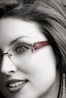 reducing reflections on eye glasses when photographing people