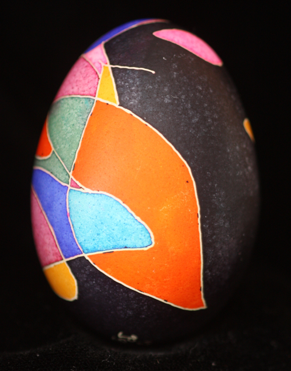 Colorful Scribble Abstract Ukrainian Egg