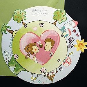 Puede besar a la novia invitaciones de boda originales - Dibujos infantiles originales ...