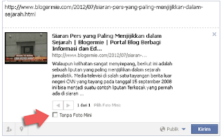 memasang link redirect ke facebook