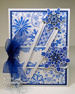Stamps - Our Daily Bread Designs Boomarks - Snowflakes, Sparkling Snowflakes, Snowflakes Background, ODBD Custom Snowflakes Die, ODBD Custom Bookmarks Die