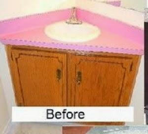 DIY Remodeling And Replacing A Corner Vanity In Bathroom - Replacement sink for bathroom vanity