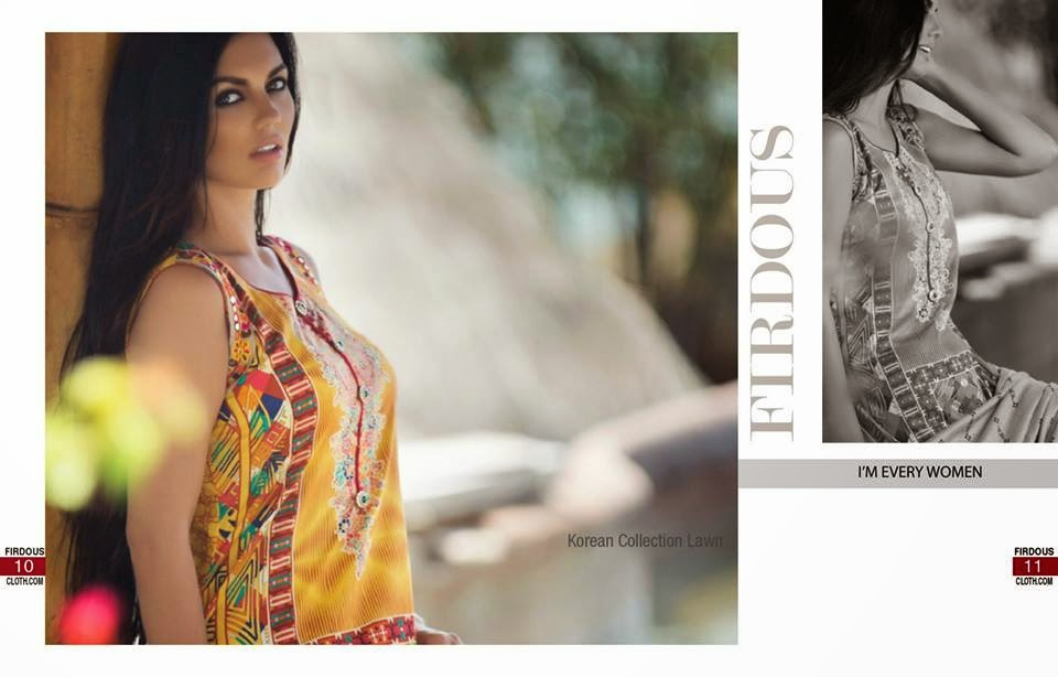 Firdous Korean Summer Lawn Collection 2015