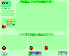 WEATHER AND DATE CHART