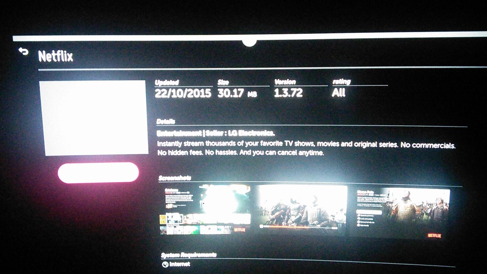 LG EG960T 4K OLED TV Software update