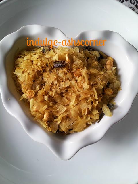 pohachivda/rice flakes trail mix