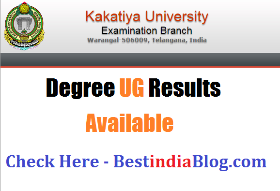 kakatiya university degree results,ku ug degree results
