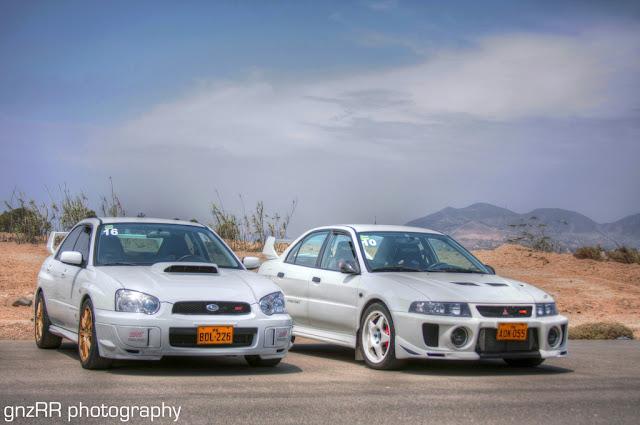Subaru Impreza II GD & Mitsubishi Lancer Evolution V, japoński sportowy sedan, AWD, boxer