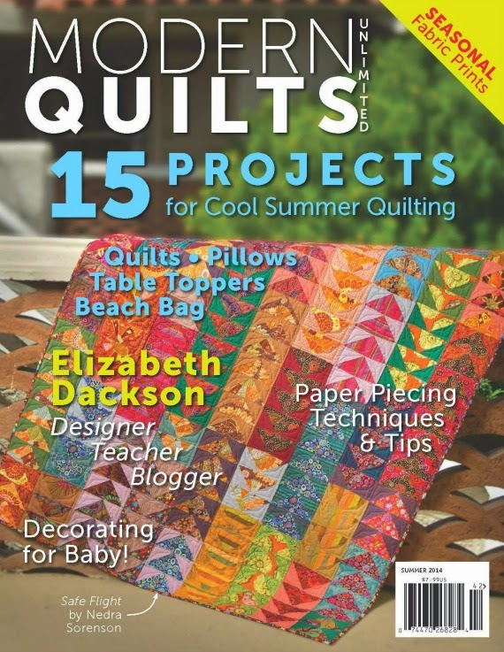Patio Quilt featured in Modern Quilts