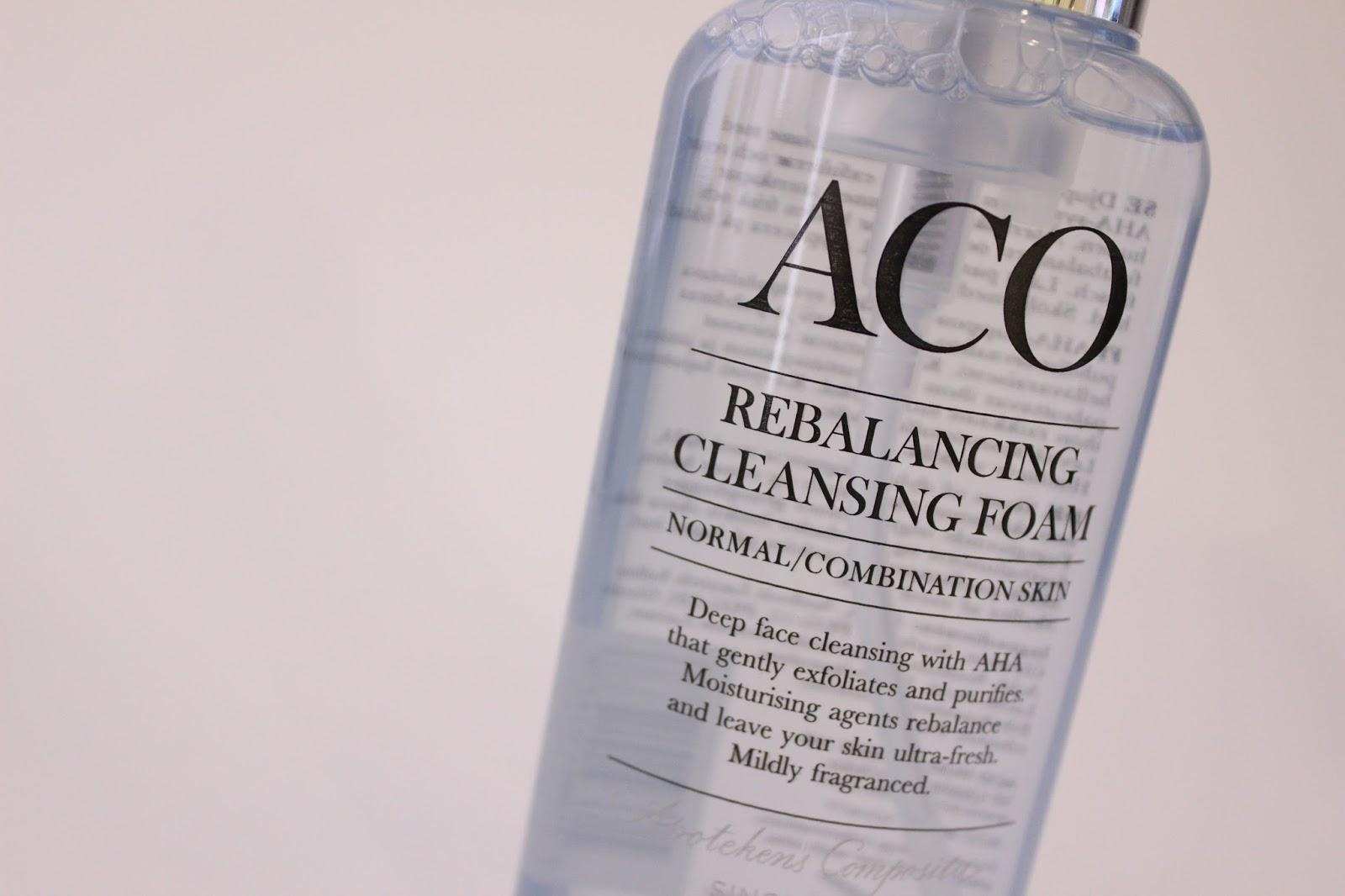 aco face rebalancing cleansing foam