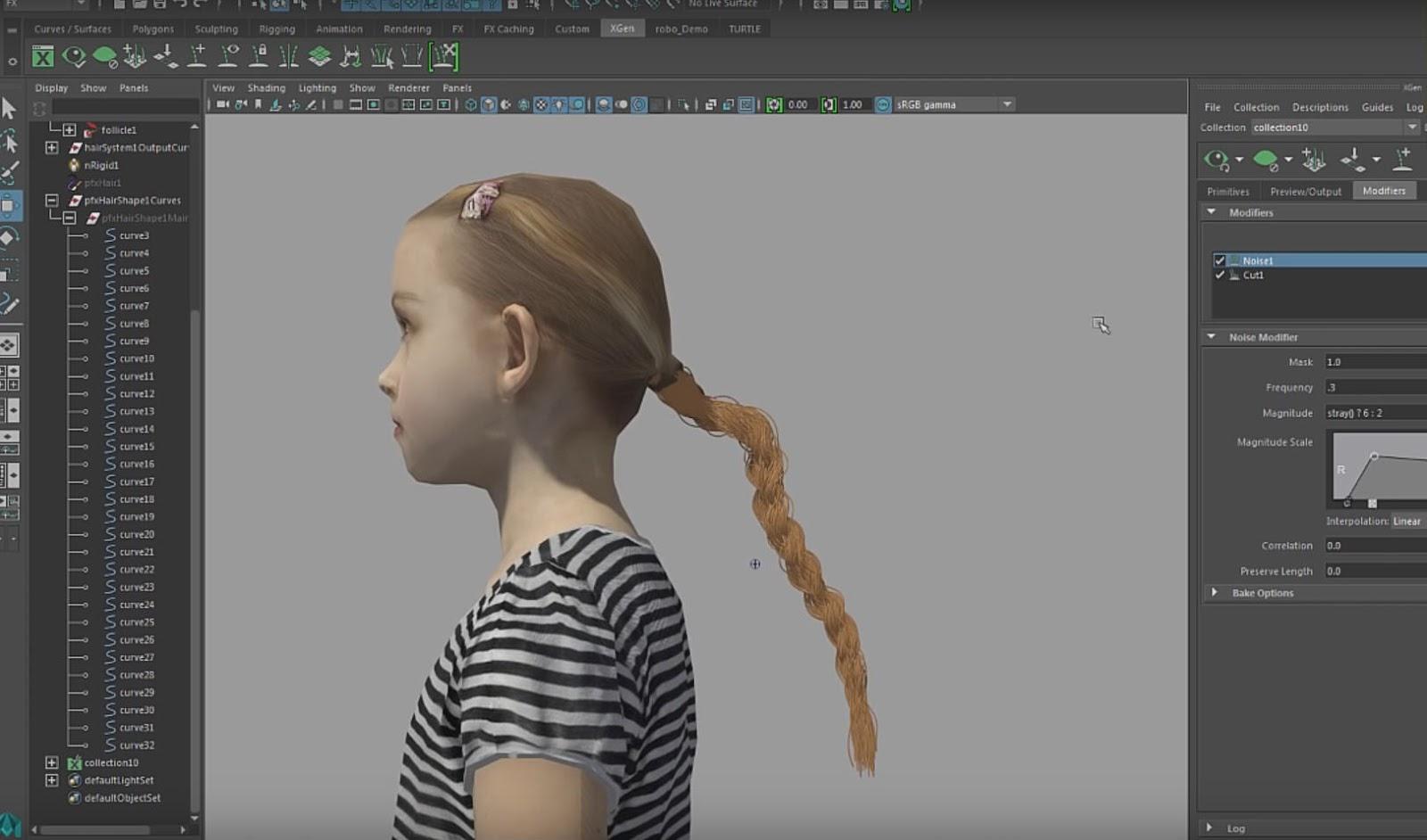 Creating Braided Ponytail With Maya XGen CG TUTORIAL