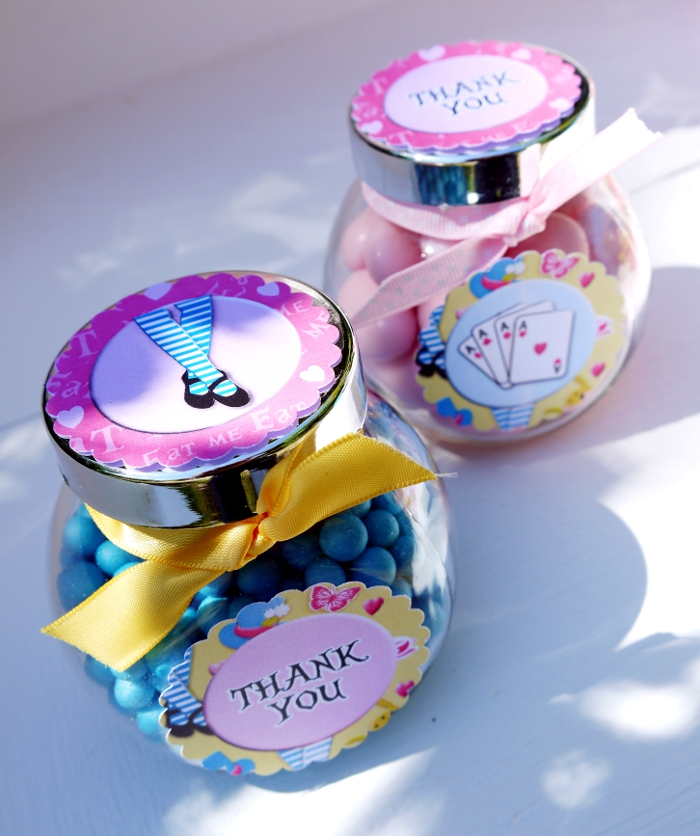 "Alice in Wonderland Inspired ""Un-Birthday"" Tea Party favors"