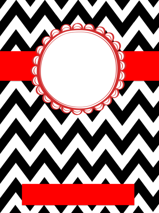 Black And White Chevron Binder Cover : Sweet second grade gretchen hilley binder covers