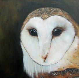 """Night Glider"",  barn owl portrait SOLD!"