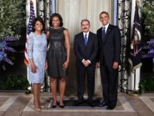 Danilo y su esposa con Obama y Michelle