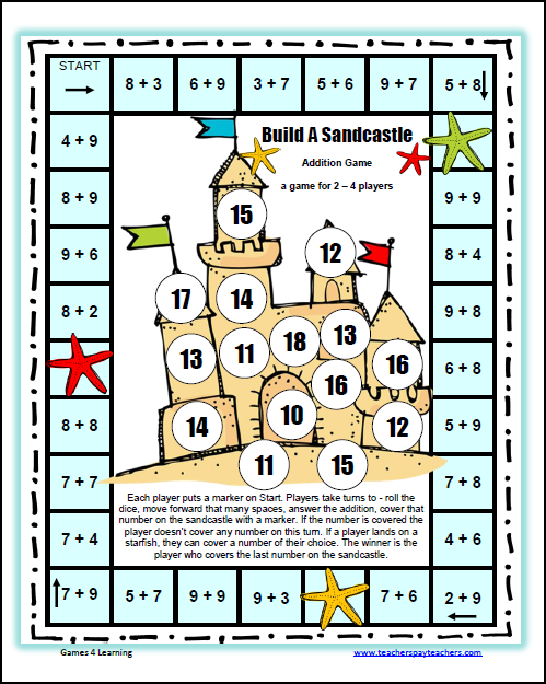 build a sandcastle addition board game
